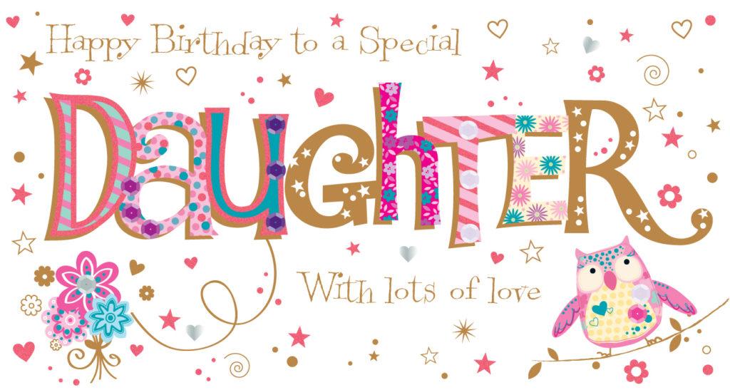 Daughter Birthday Handmade Embellished Greeting Card Cards