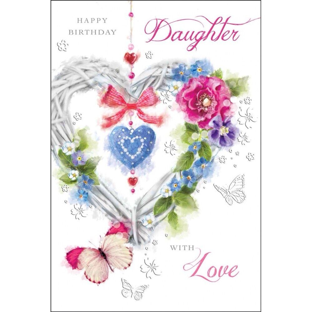 Daughter Happy Birthday Card Birthday Daughter Luxury