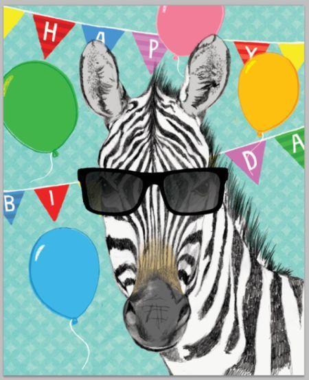 David Broadbent Birthday Zebra Happy Birthday Cards