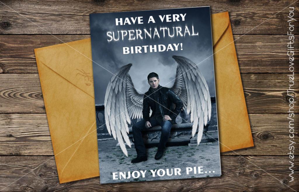 Dean Winchester Birthday Card SUPERNATURAL Printable
