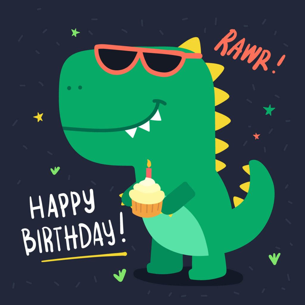 Dinosaur Birthday Free Vector Art 40 Free Downloads