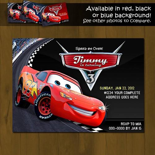 Disney CARS Lightning Mc Queen Printable Birthday