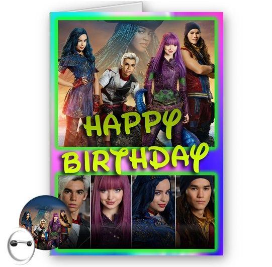 Disney Descendants 2 A5 Happy Birthday Card With Envelope