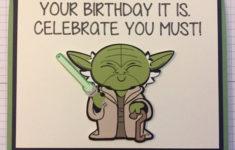 Yoda Birthday Card Printable