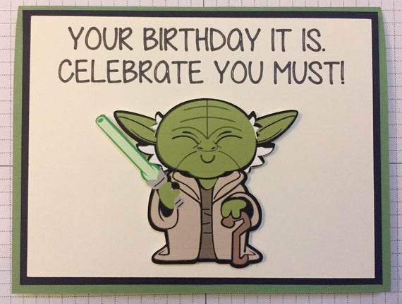 Disney Star Wars Yoda Birthday Greeting Card