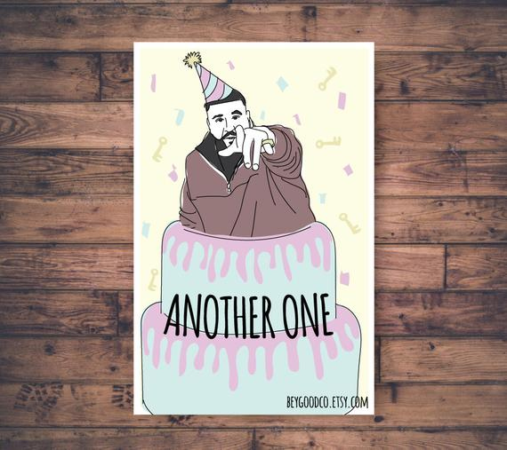 DJ Khaled Another One Printable Birthday Card Funny