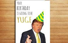 Printable Birthday Cards Trump