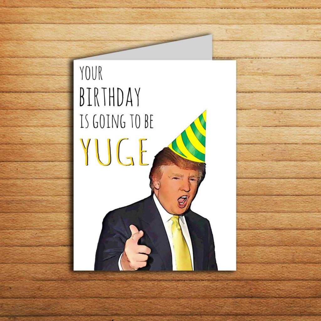 Donald Trump Birthday Card Birthday Gift For By EnjoyPrintable