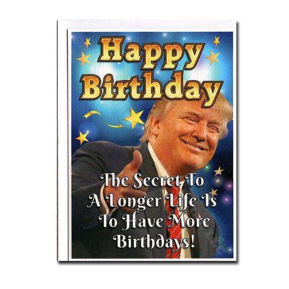 Donald Trump Funny Birthday Card Birthday Card Trump
