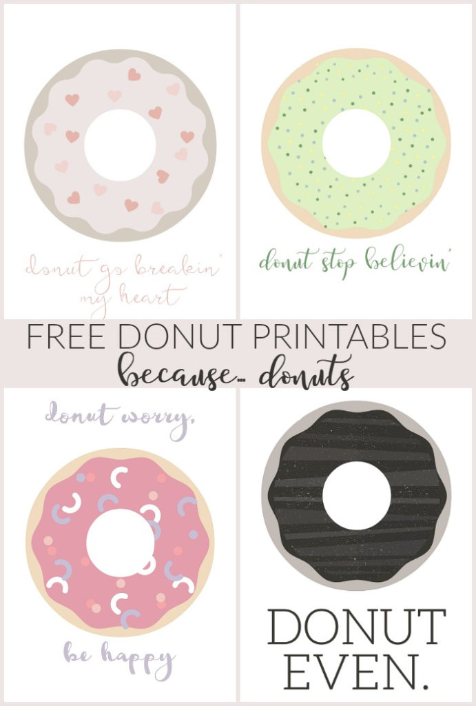 DONUT POSTCARDS BECAUSE DONUTS Mad In Crafts