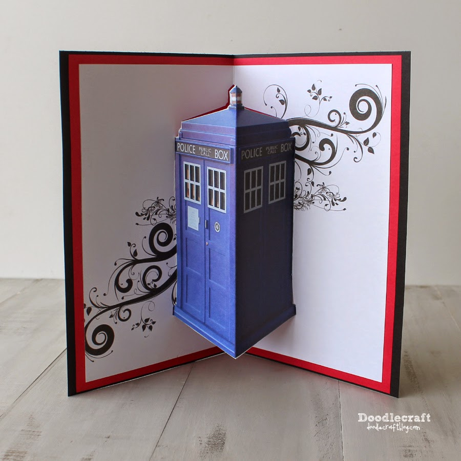 Doodlecraft Jon Pertwee Pop Up Cards 3rd Day Of Doctor Who