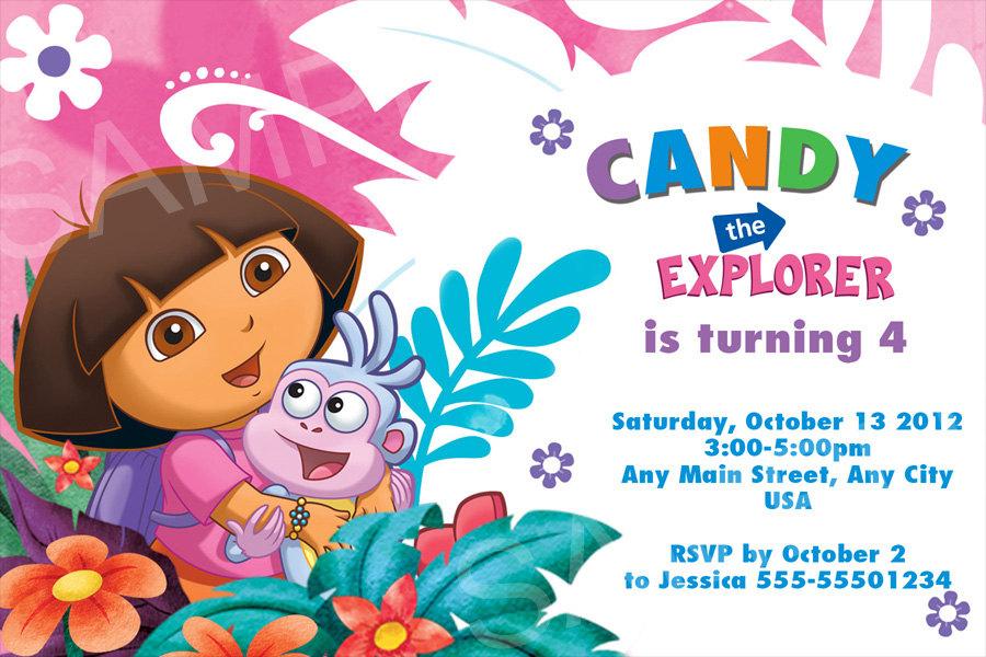 Dora Invitation Printable Dora Birthday Invitation