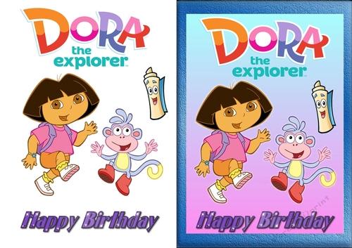 Dora The Explorer Birthday Card CUP813843 83674