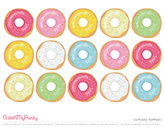 Download These Sweet Free Donut Party Printables Now