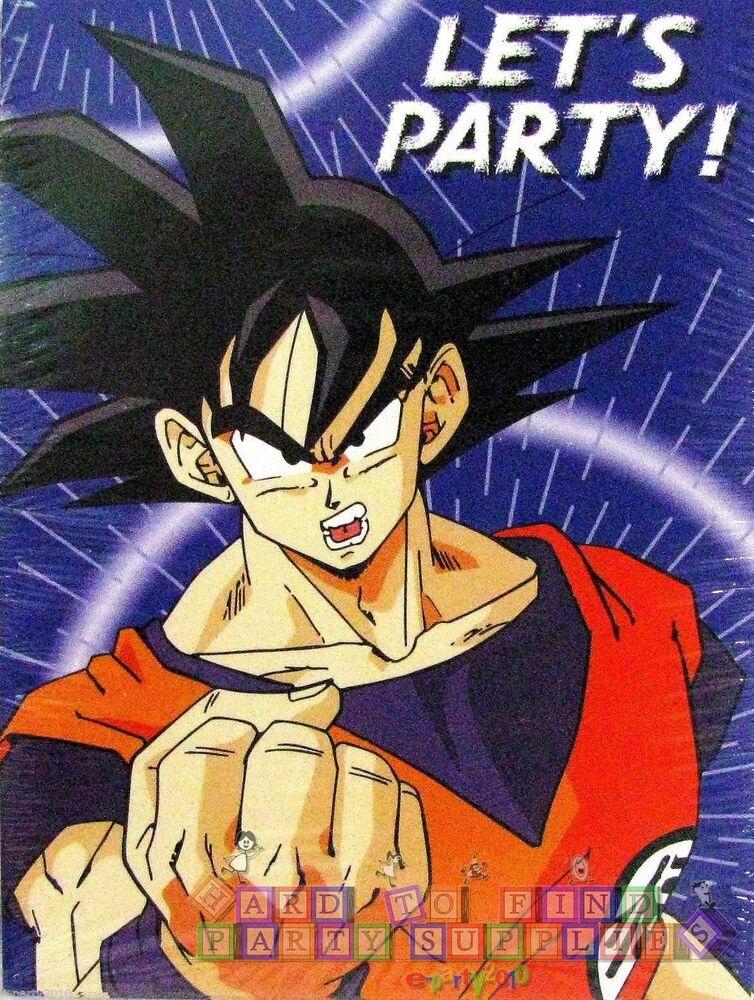 DRAGON BALL Z INVITATIONS 8 Anime Birthday Party