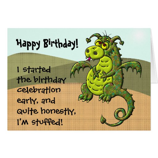 Dragon Birthday Greeting Card Zazzle