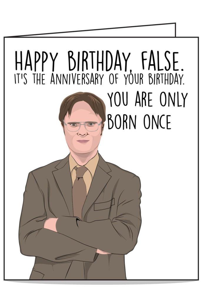 Dwight The Office Birthday Card Office Birthday Funny