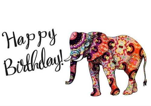 Elephant Birthday Free Happy Birthday ECards Greeting
