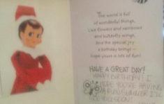 Printable Birthday Card From Elf On The Shelf