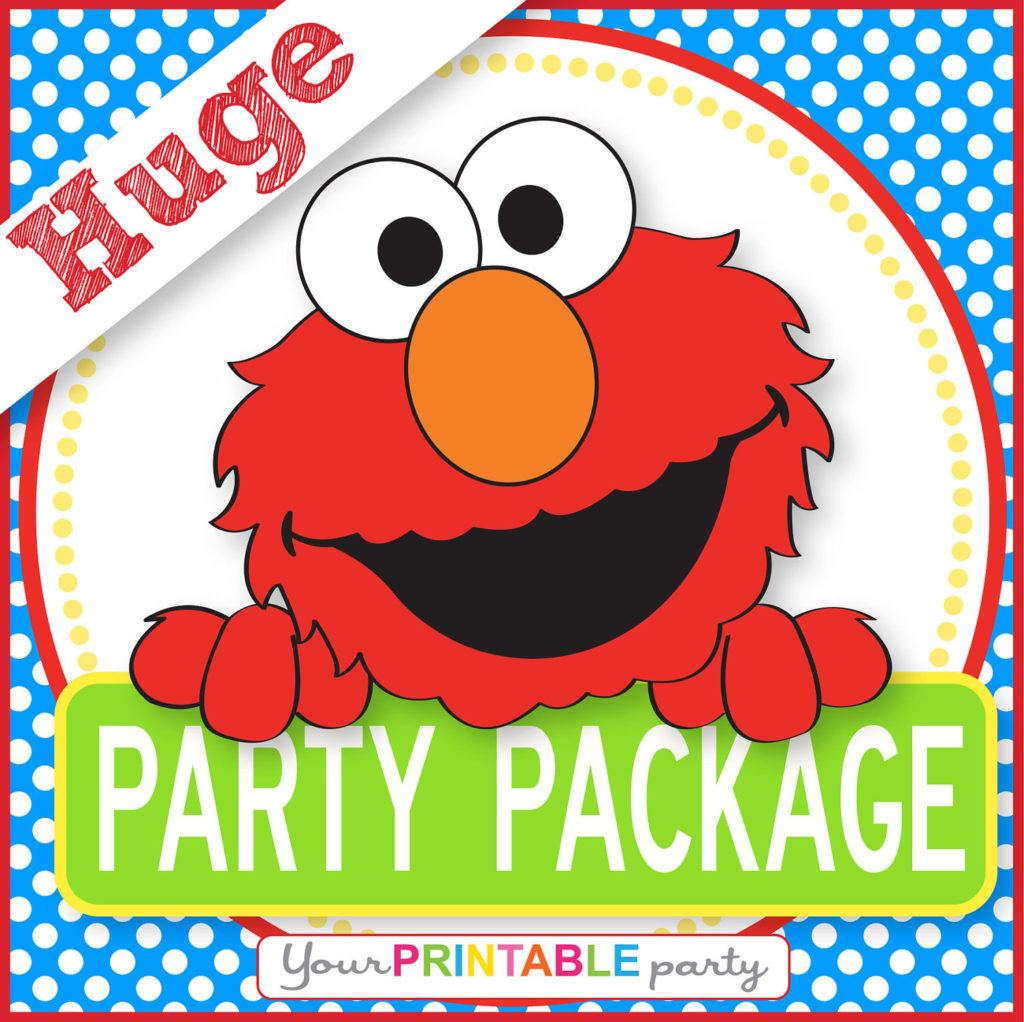ELMO Party Package PERSONALIZED Print By YourPrintableParty