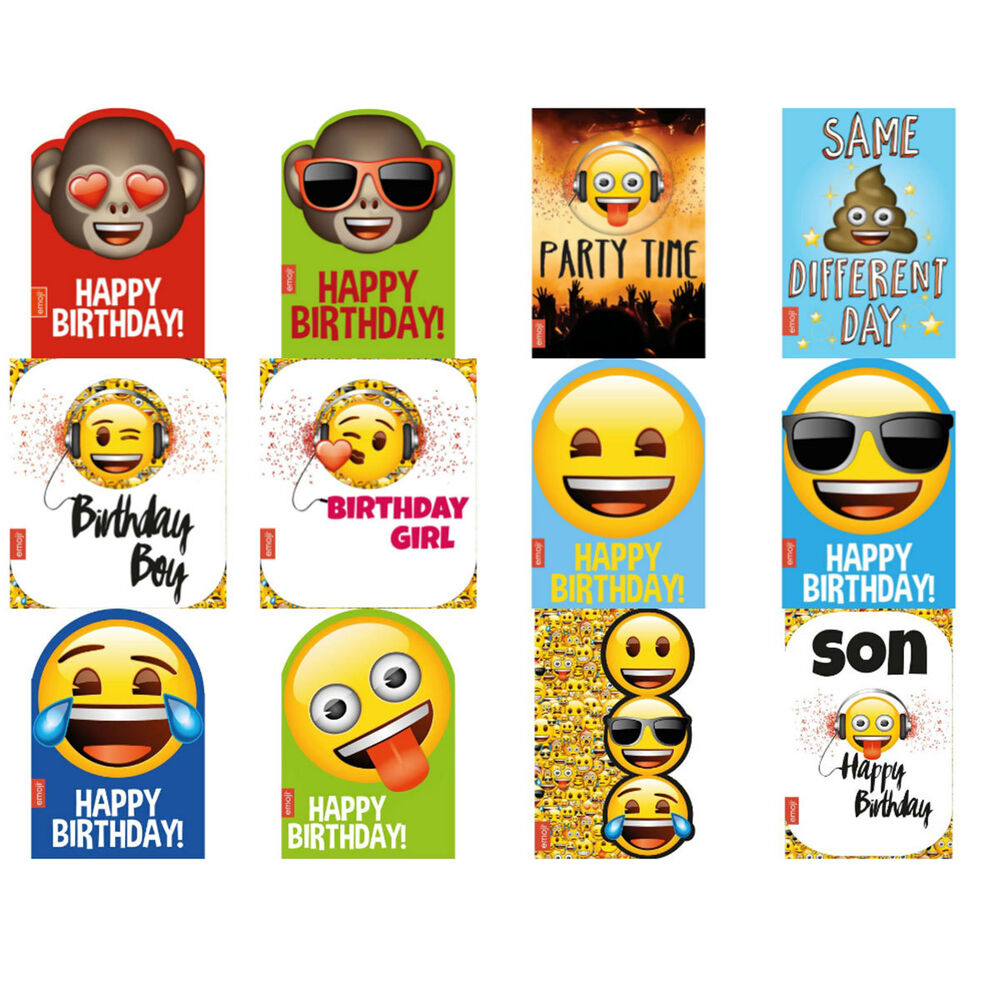 Emoji Greeting Birthday Cards EBay
