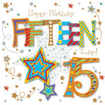 Fifteen Today 15th Birthday Greeting Card Cards