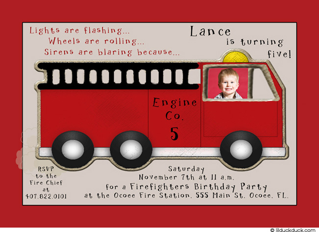 Fire Truck Birthday Invitations Ideas Bagvania