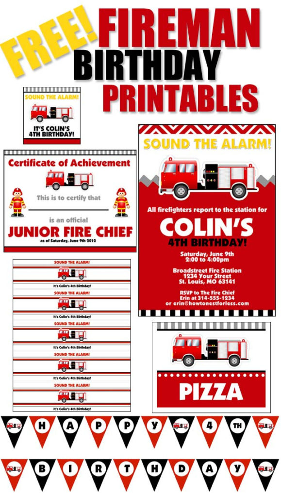 Fire Truck Birthday Party With FREE Printables How To