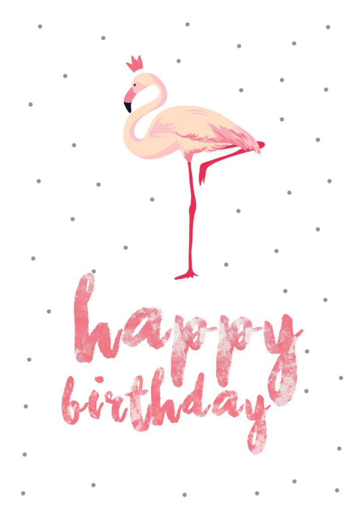 Flamingo Birthday Birthday Card free Greetings Island