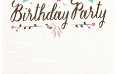 Free Customized And Printable Birthday Invitation Cards