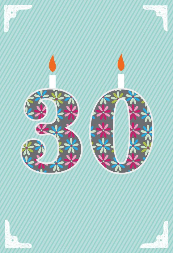 Floral 30th Birthday Free Birthday Card Greetings Island