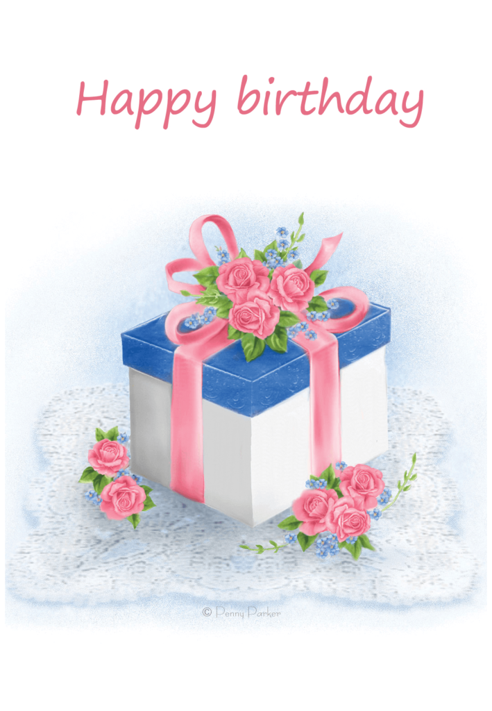 Floral Gift Birthday Card Free Greetings Island
