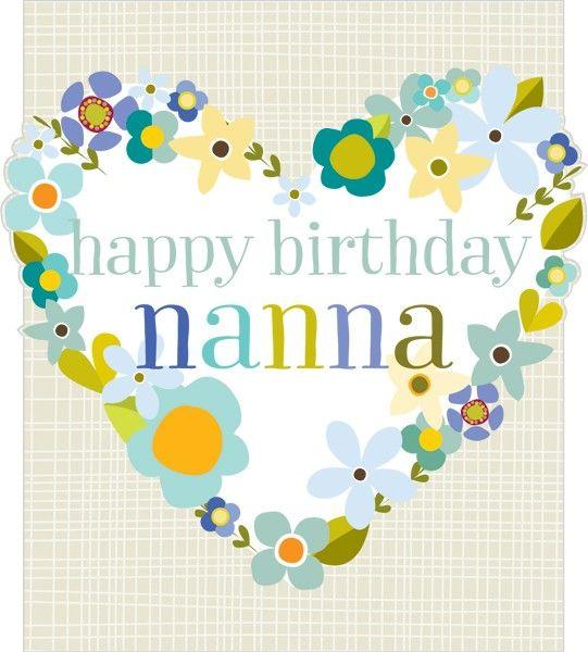 Floral Heart Nanna Birthday Card Karenza Paperie