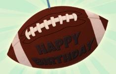 Printable Football Birthday Card