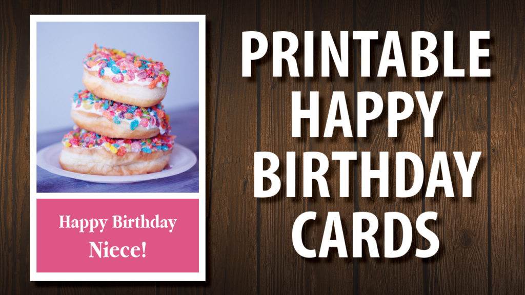 For Your Niece Printable Happy Birthday Cards