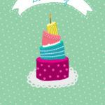 Four Tier Cake Birthday Card Greetings Island