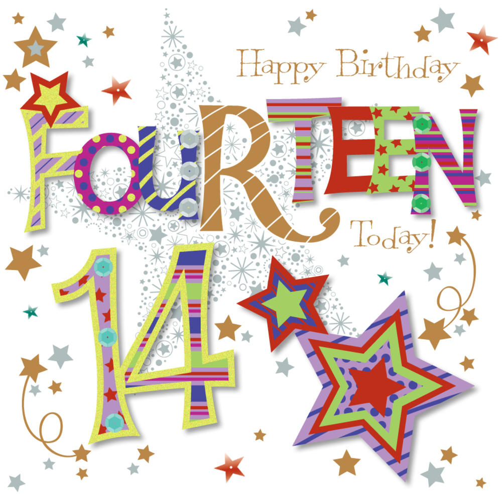 Fourteen Today 14th Birthday Greeting Card Cards