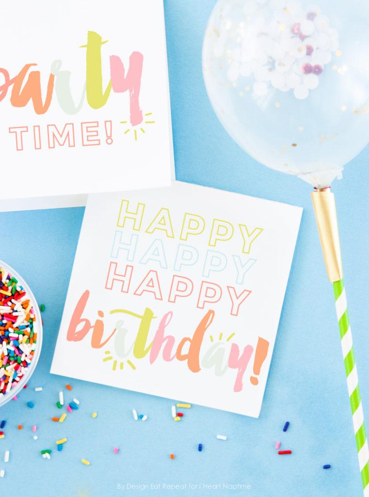 Free Birthday Printables Eighteen25