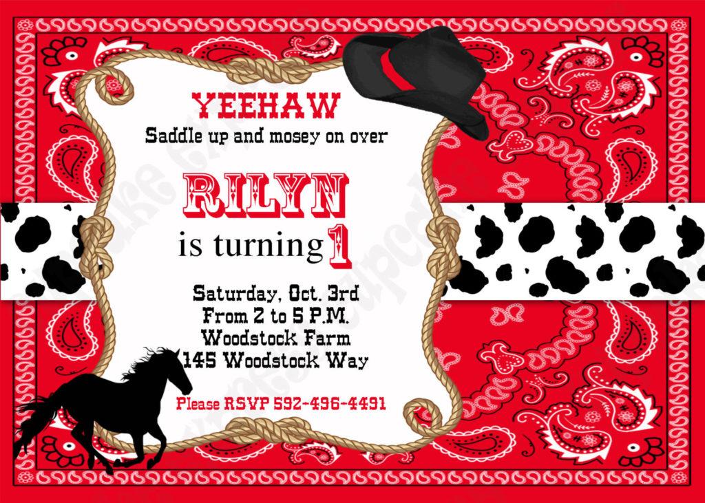 FREE Cowboy Birthday Invitations FREE Printable Birthday