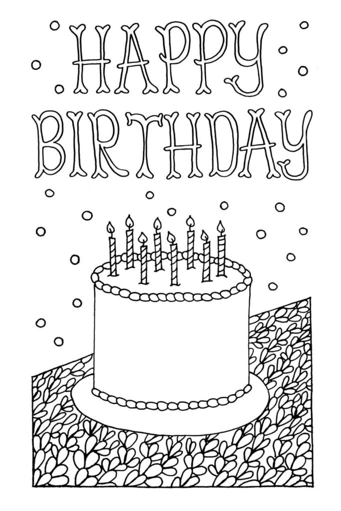 Free Downloadable Adult Coloring Greeting Cards Happy