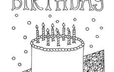 Free Printable Coloring Cards For Birthdays