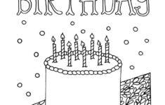 Happy Birthday Card Printable Coloring
