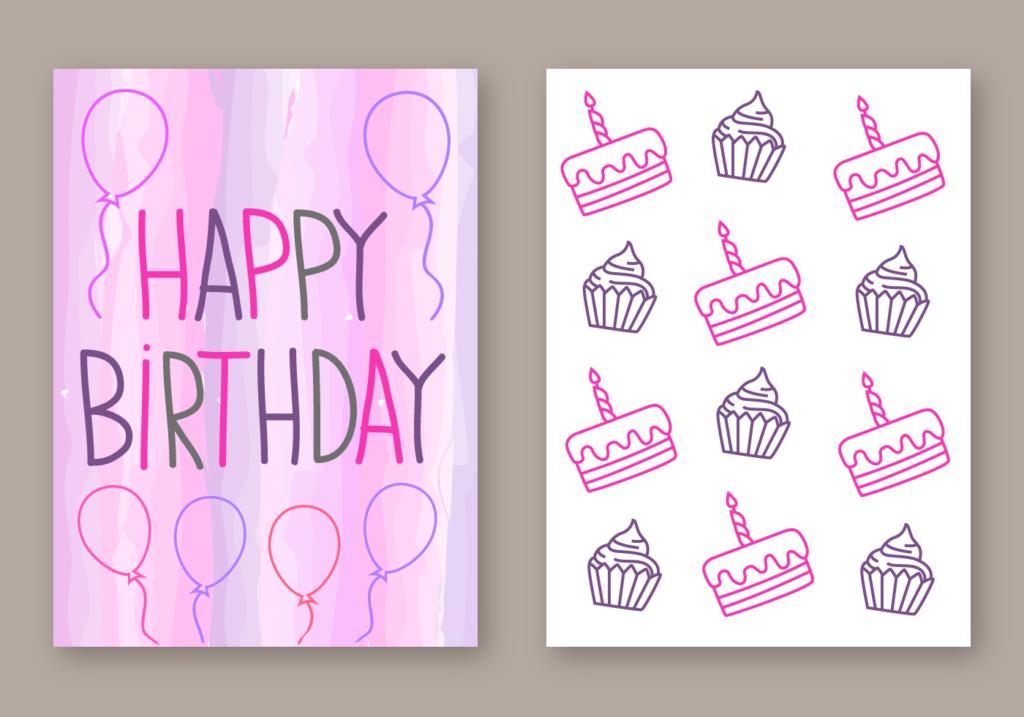 Free Happy Birthday Card Vector Download Free Vectors