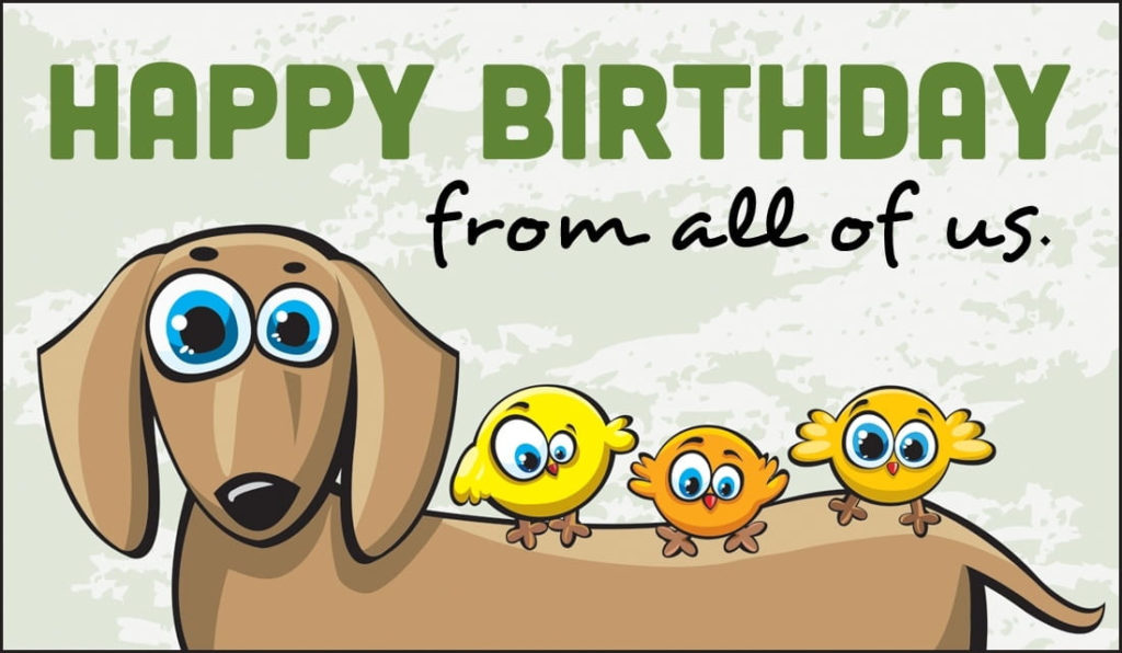 Free Happy Birthday From All Of Us ECard EMail Free