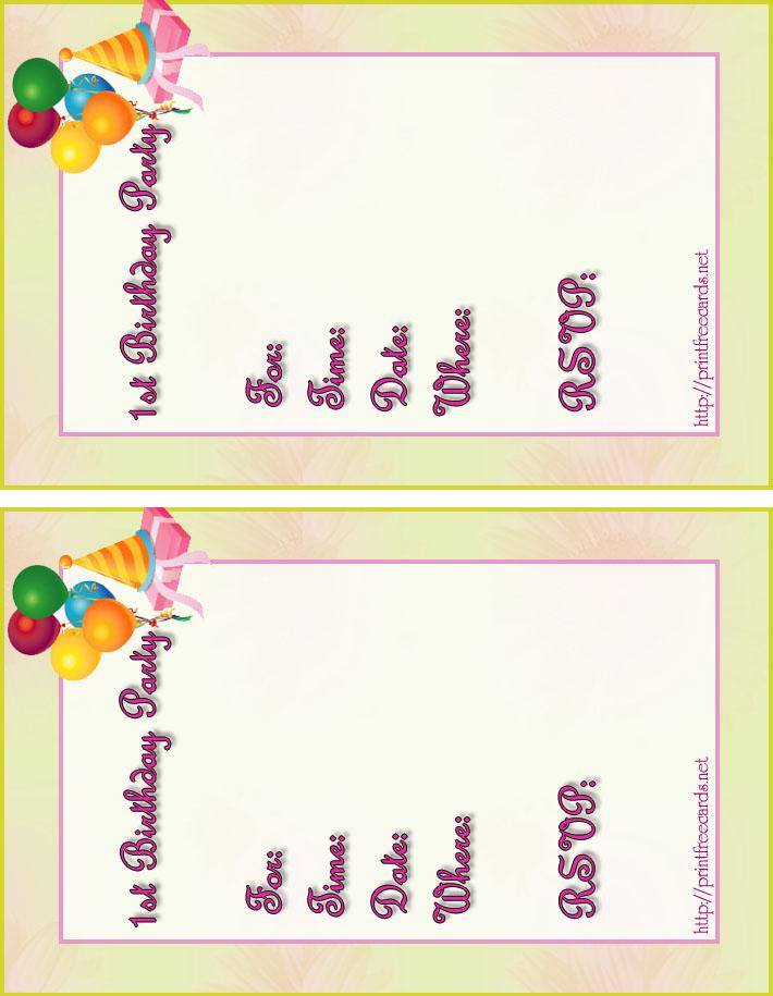 Free Kids Birthday Invitations Free Printable Children s