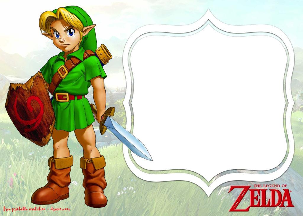 FREE Legend Of Zelda Birthday Invitation Templates FREE