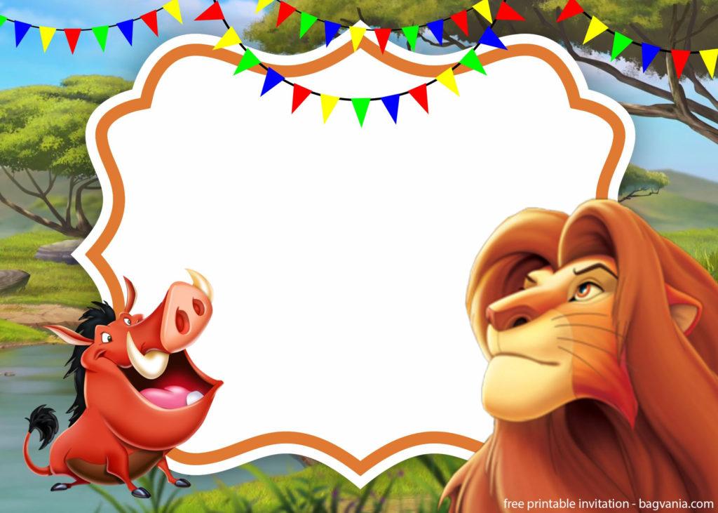 FREE Lion King Invitation Template FREE Printable