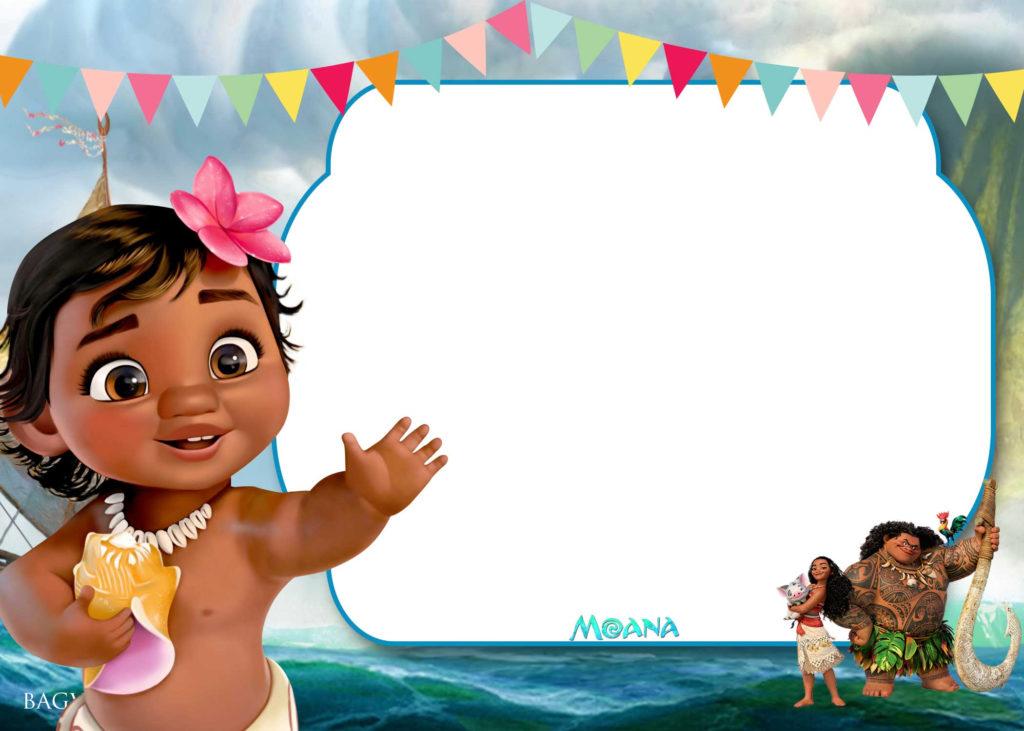 Free Moana Birthday Invitation Template DREVIO