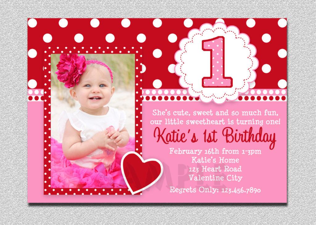 Free Printable 1st Birthday Party Invitations FREE