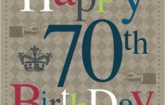 Free Printable Birthday Cards 70th